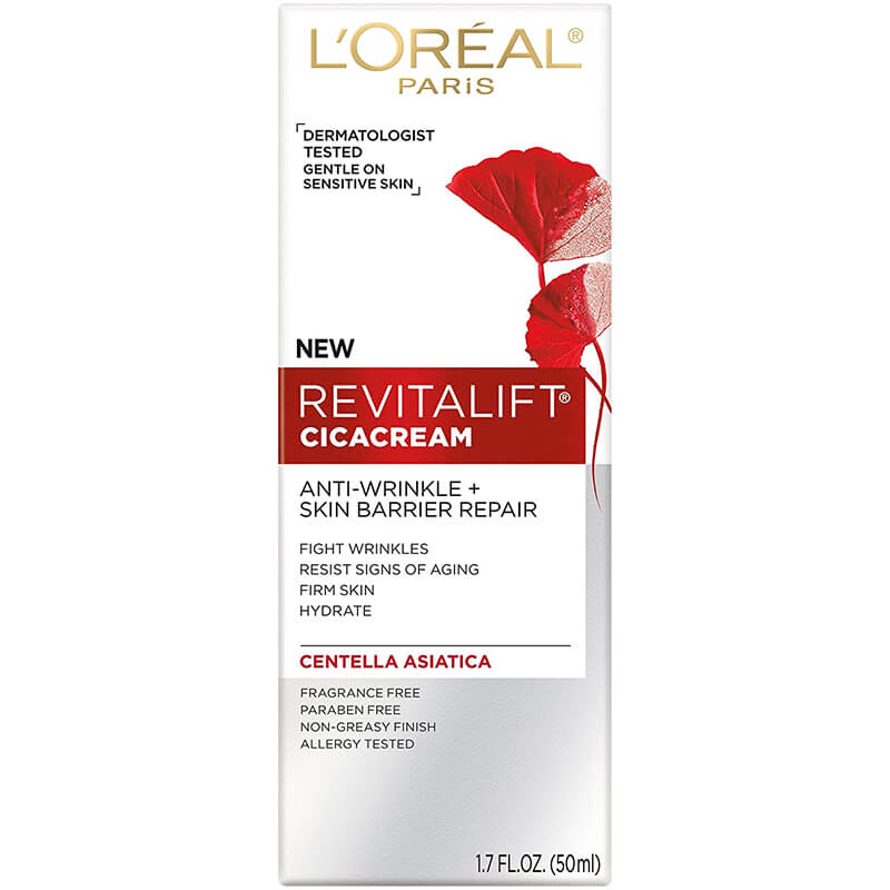 L'Oréal Paris RevitaLift Cicacream Face Moisturizer Pro Retinol & Centella Asiatica giúp làm ẩm da hiệu quả