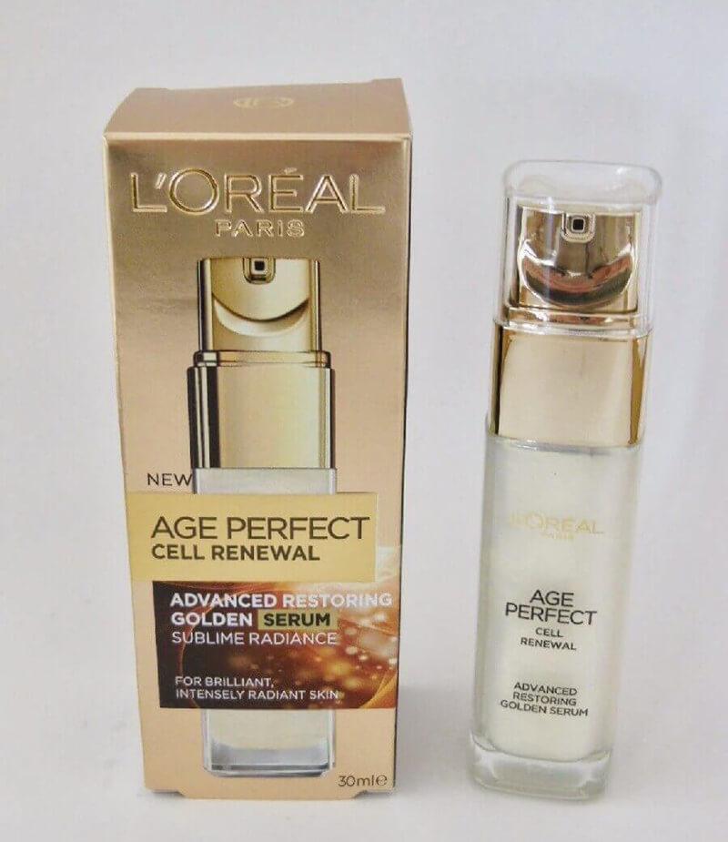 Serum Oréal Paris Age Perfect Cell Renewal Golden Serum giúp da trắng sáng